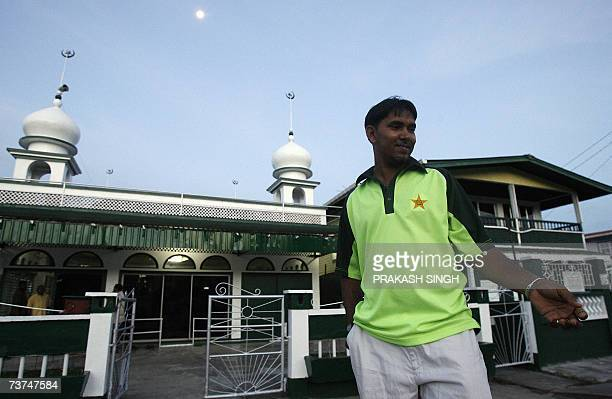 This picture taken on 29 March 2007 shows Wazim Karim as he goes inside a mosque for evening prayers in Grove in GeorgetownWazim Karim dreamed of...