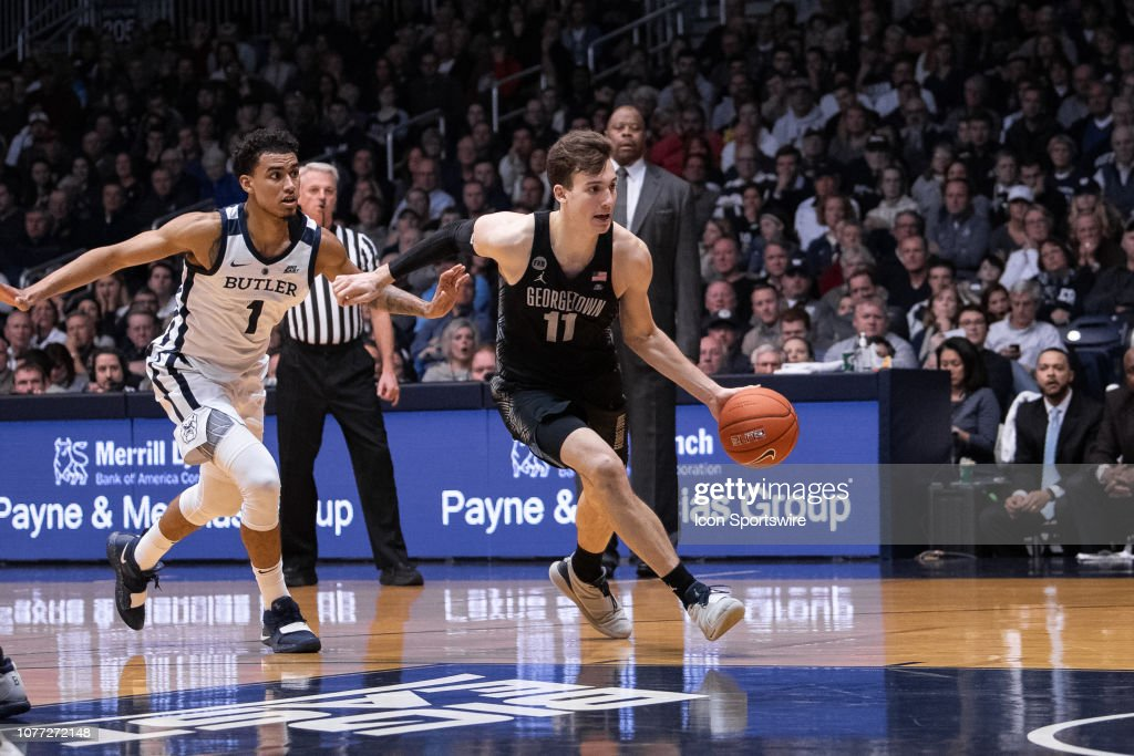 COLLEGE BASKETBALL: JAN 02 Georgetown at Butler : News Photo