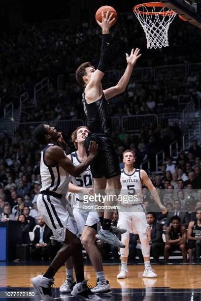 Georgetown Hoyas guard Greg Malinowski goes in for a layup during the men's college basketball game between the Butler Bulldogs and Georgetown Hoyas...