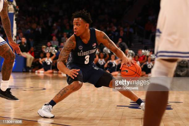 Georgetown Hoyas guard James Akinjo during the second half of the Big East Tournament quarterfinal game between the Seton Hall Pirates and the...
