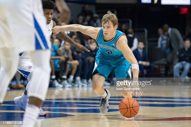 Georgetown Hoyas guard Mac McClung dribbles the ball during the college basketball game between the SMU Mustangs and the Georgetown Hoyas on December...