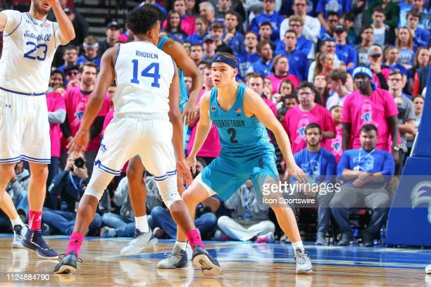 Georgetown Hoyas guard Mac McClung during the first half of the College Basketball Game between the Seton Hall Pirates and the Georgetown Hoyas on...