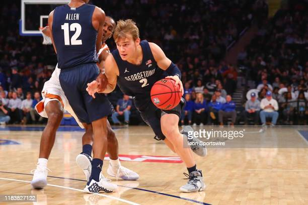 Georgetown Hoyas guard Mac McClung during the second half of the 2K Empire Classic college basketball game between the Texas Longhorns and the...