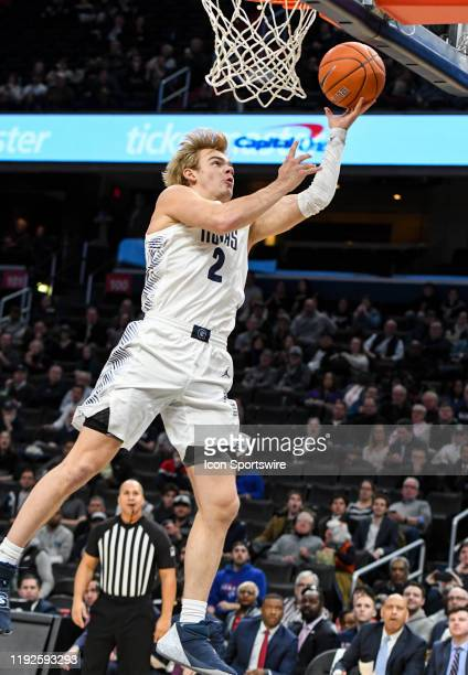 Georgetown Hoyas guard Mac McClung scores in the second half against the St John's Red Storm on January 8 at the Capital One Arena in Washington DC