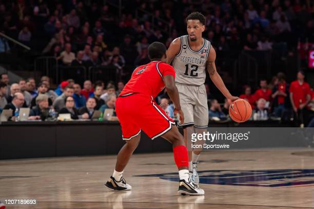 Georgetown Hoyas guard Terrell Allen during the Big East tournament first round game between the St. Johns Red Storm and Georgetown Hoyas on March...