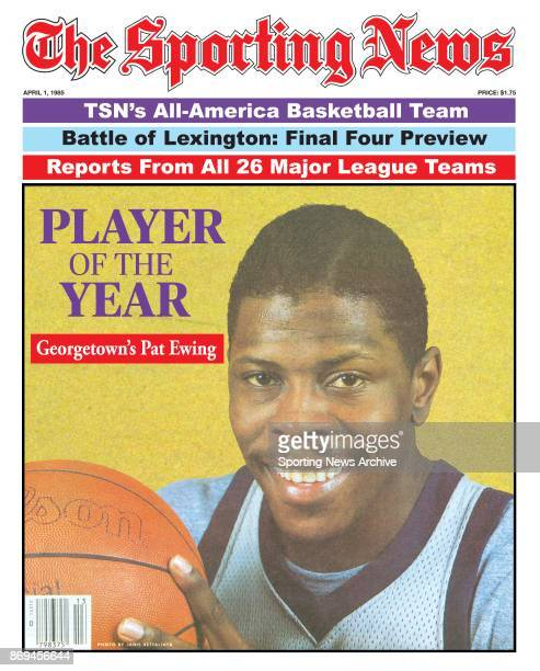 Georgetown Patrick Ewing NCAA Basketball Cover Player Of The Year April 041985
