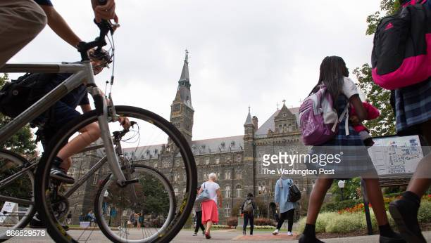 Georgetown University President John DeGioiain holds a press conference to announce atonements for the school's slavery history today in Washington...