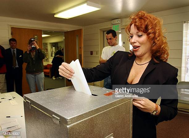 GEORGETOWN4202Georgetown Mayor Koleen Brooks casts her ballot which features the issue of her recall as well as a choice for other selectmen...