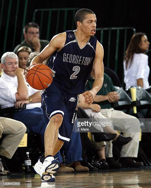 Georgetown's Jonathan Wallace looks to drive the lane in Saturday night's game against South Florida at the Sundome in Tampa, Florida on March 4,...