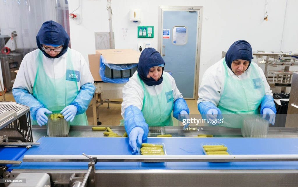 GBR: Sausage Production At The Heck Factory In Yorkshire