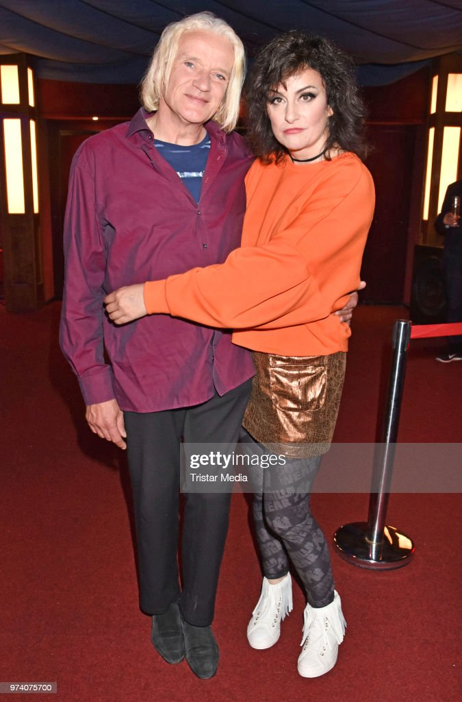 Georgette Dee and Cora Frost attend the premiere of 'Dee Frost Welt - Lieder' at Tipi am Kanzleramt on June 13, 2018 in Berlin, Germany.