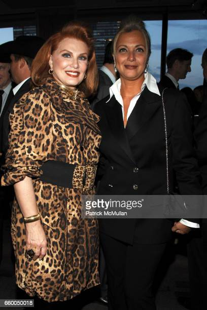 Georgette Mosbacher and Gigi Gabr attend WELCOME TO GULU EXHIBITION AND BENEFIT ART SALE ANTIHUMAN TRAFFICKING INNITIATIVE at The United Nations on...
