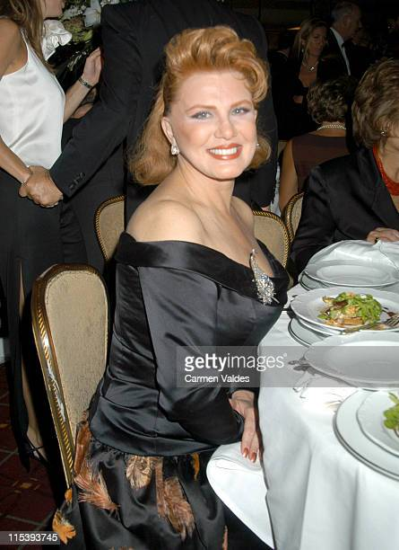 Georgette Mosbacher during Columbus Citizens Foundation Gala Honoring Franco Zeffirelli at Waldorf Astoria Grand Ballroom in New York City New York...