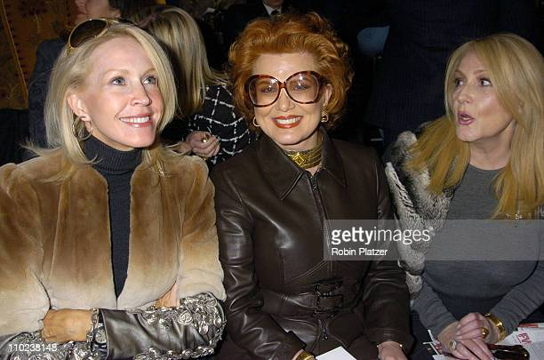 Georgette Mosbacher during Olympus Fashion Week Fall 2005 Bill Blass Backstage and Front Row at The Tents at Bryant Park in New York New York United...