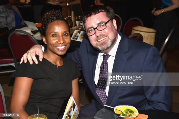 Georgette Stewart and Brandon Joyce attend The Fifth Annual Dinner By The Bite to benefit Esther's Aid at The Riverside Church on October 23 2017 in...