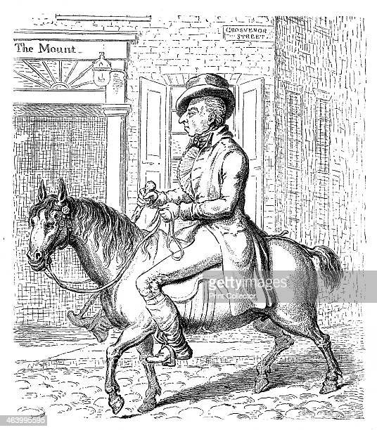 'Georgey a' Cockhorse' 1796 George Prince of Wales Illustration from Social Caricature in the Eighteenth Century With over two hundred illustrations...