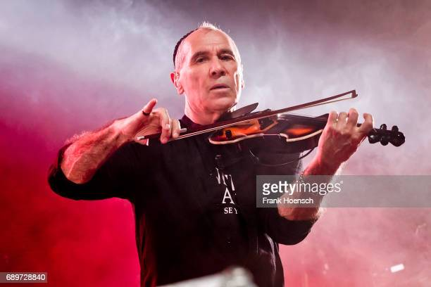 Georgi Gogow of the German band City performs live on stage during a concert at the MaxSchmelingHalle on May 27 2017 in Berlin Germany