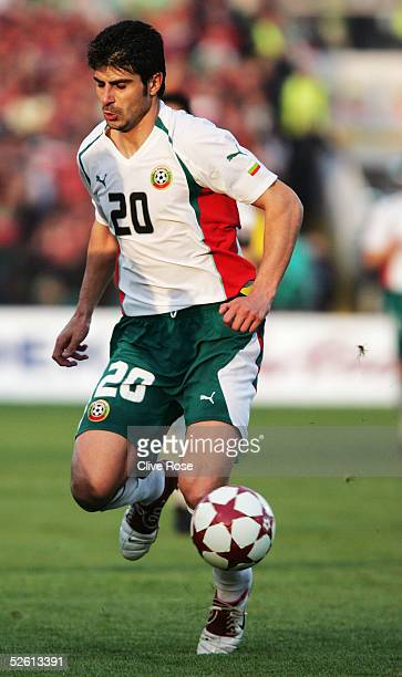 Georgi Ivanov of Bulgaria in action during the Group 8 World Cup Qualifying match between Bulgaria and Sweden at the National stadium Vassil Levski...