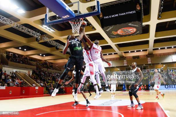 Georgi Joseph of Monaco and Alpha Kaba of Asvel during the Pro A match between Monaco and Lyon Villeurbanne on October 8 2017 in Monaco Monaco