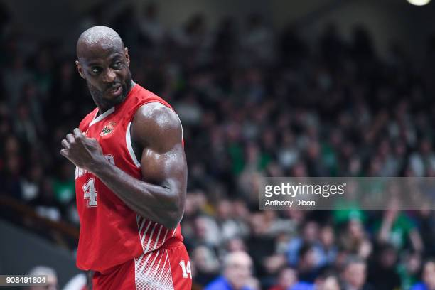 Georgi Jospeh of Monaco during the Pro A match between Nanterre 92 and Monaco on January 21 2018 in Nanterre France