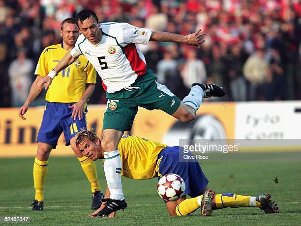 Georgi Markov of Bulgaria in action during the Group 8 World Cup Qualifying match between Bulgaria and Sweden at the National stadium Vassil Levski...
