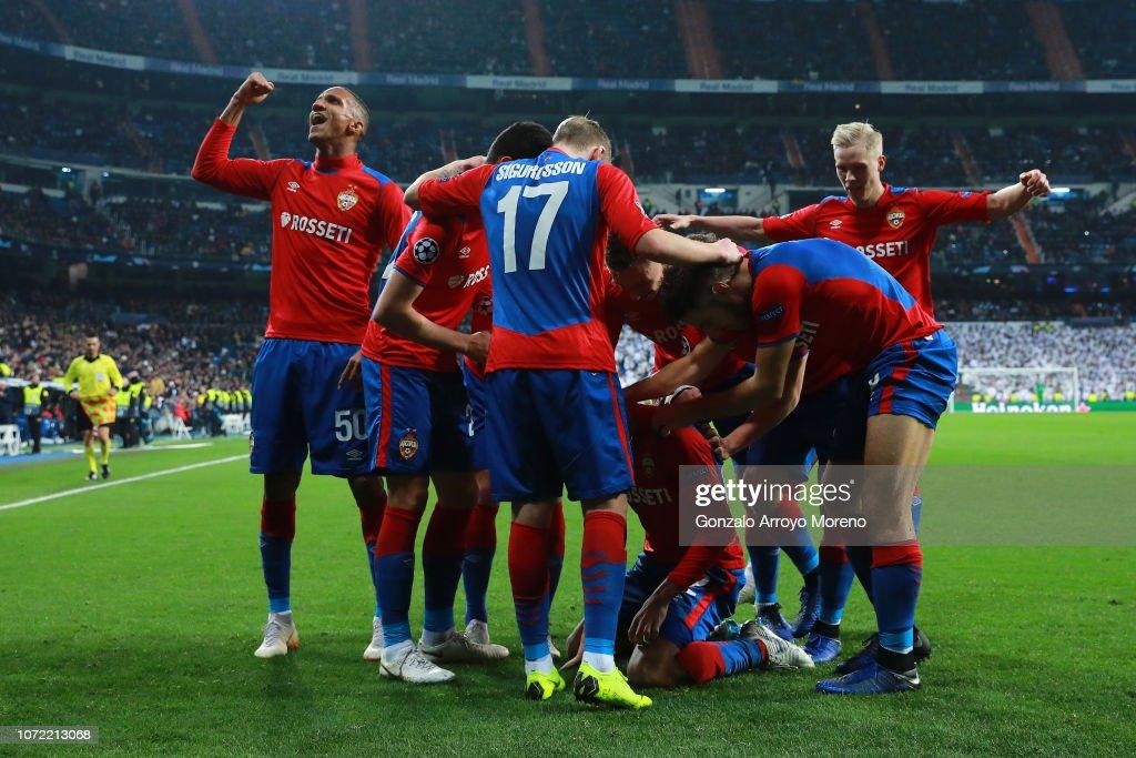 Real Madrid  v CSKA Moscow - UEFA Champions League Group G : News Photo