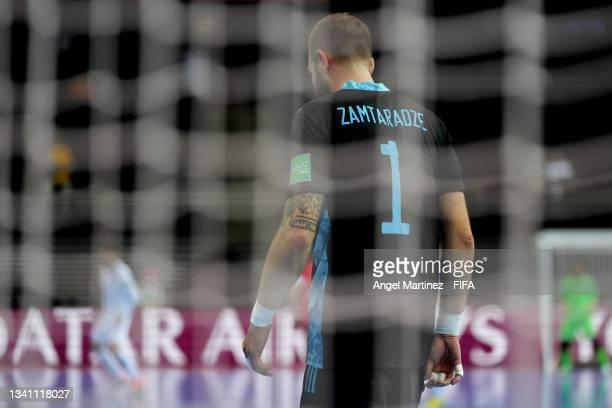 Georgi Zamtaradze of RFU during the FIFA Futsal World Cup 2021 group B match between Guatemala and Football Union Of Russia at Kaunas Arena on...