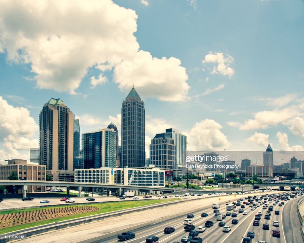 USA, Georgia, Atlanta, Cityscape with skyscrapers : Stock Photo