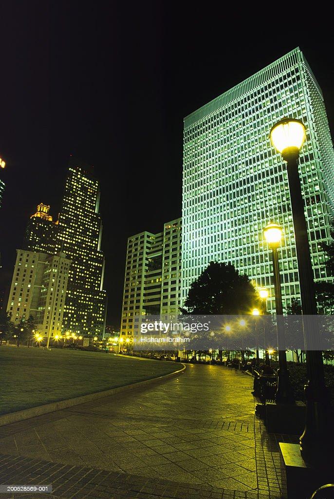 Atlanta City Street At Night