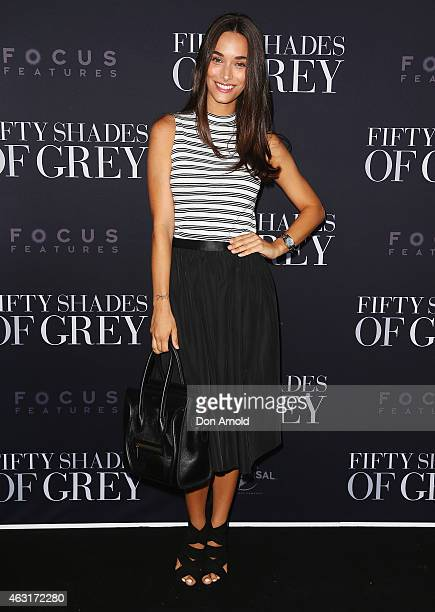 Georgia Berg arrives at the Fifty Shades of Grey screening at the Entertainment Quarter on February 11 2015 in Sydney Australia