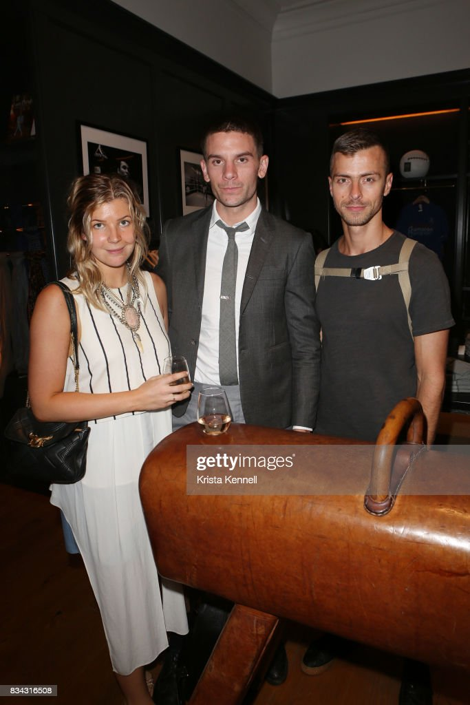 Georgia Bishop, Michael O'Connor and Ian Bisioion attend Todd Snyder x Akin's Army Collaboration Launch at Todd Snyder Flagship Store on August 17, 2017 in New York City.