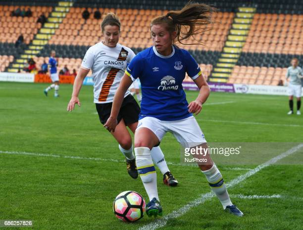 Georgia Brougham of Everton Ladies during Women's Super League 2 Spring Series match between London Bees against Everton Ladies at The Hive Barnet FC...