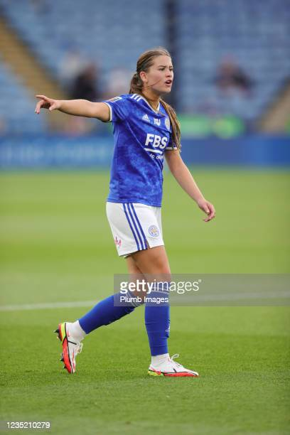Georgia Brougham of Leicester City Women during the Barclays FA Women's Super League match between Leicester City Women and Manchester United Women...