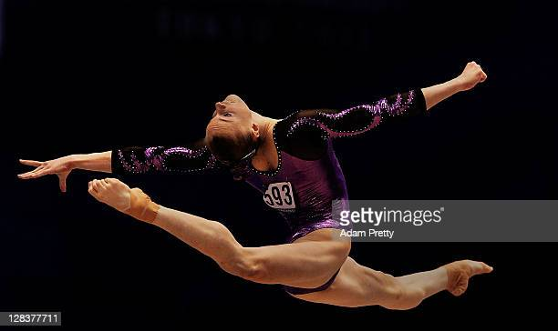 Georgia Brown of Australia performs on the Floor aparatus in the Women's Qualification during the day one of the Artistic Gymnastics World...