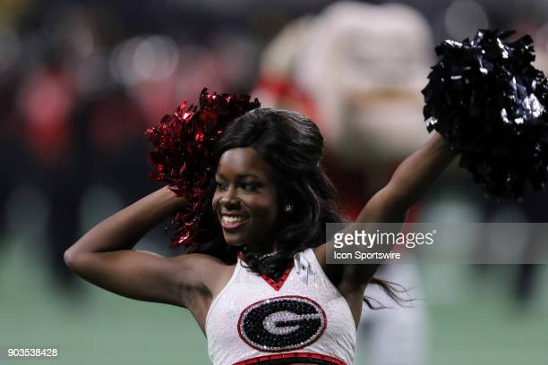 Georgia Bulldogs cheerleader during the College Football Playoff National Championship Game between the Alabama Crimson Tide and the Georgia Bulldogs...