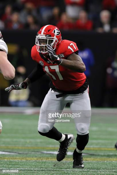 Georgia Bulldogs linebacker Davin Bellamy during the College Football Playoff National Championship Game between the Alabama Crimson Tide and the...