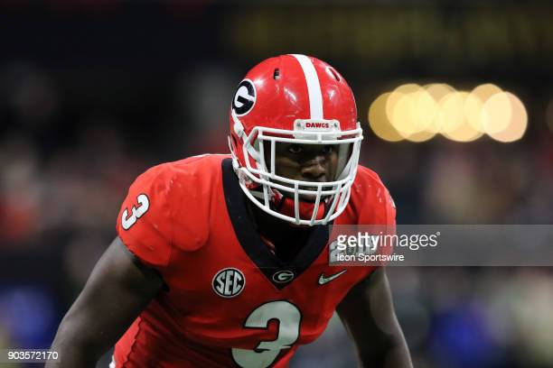 Georgia Bulldogs linebacker Roquan Smith during the College Football Playoff National Championship Game between the Alabama Crimson Tide and the...