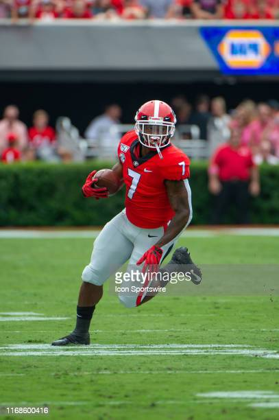Georgia Bulldogs running back D'Andre Swift during the game between the Arkansas State Red Wolves and the Georgia Bulldogs on September 14 at Sanford...