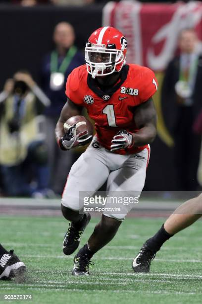 Georgia Bulldogs running back Sony Michel carries the ball during the College Football Playoff National Championship Game between the Alabama Crimson...