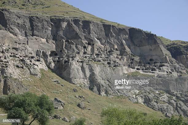 cave city of Vardzia dug into the side of the Erusheli mountain