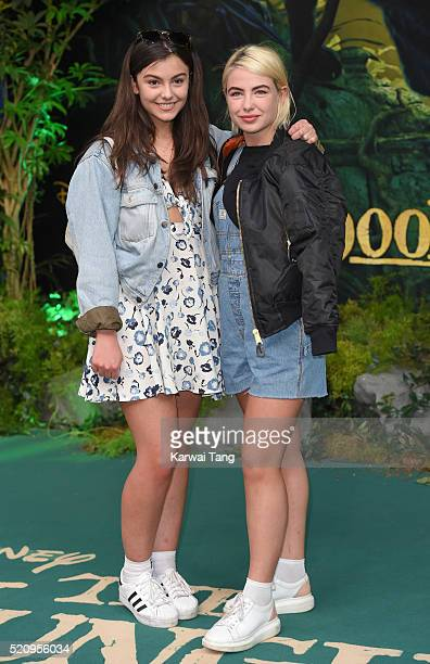 Georgia Chambers and Jess Woodley arrive for the European premiere of 'The Jungle Book' at BFI IMAX on April 13 2016 in London England