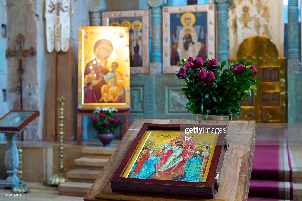 Georgia church altar : Stock Photo