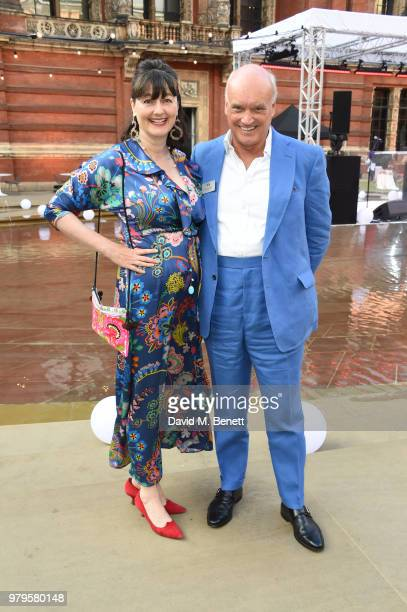 Georgia Coleridge and Nicholas Coleridge attend the Summer Party at the VA in partnership with Harrods at the Victoria and Albert Museum on June 20...