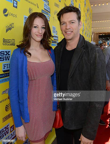 Georgia Connick and musiican Harry Connick Jr attend the screening of When Angels Sing during the 2013 Music Film Interactive Festival at the...