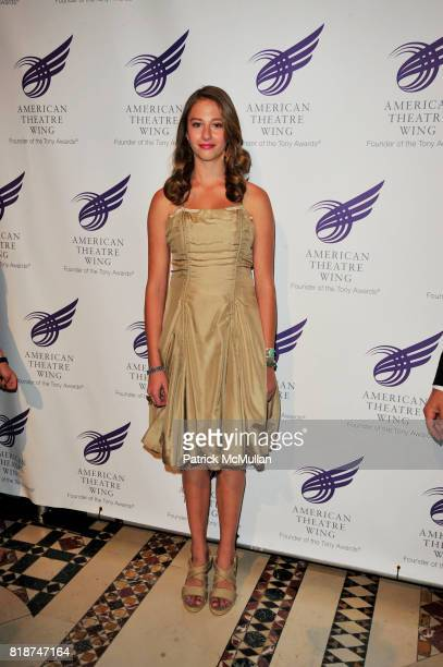 Georgia Connick attends 2010 American Theater Wing Gala at Cipriani 42nd NYC on June 7 2010