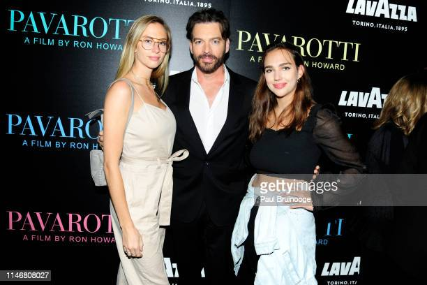 Georgia Connick Harry Connick Jr and Charlotte Connick attend Special Red Carpet Screening Of Ron Howard's Documentary Pavarotti at iPic Theater on...