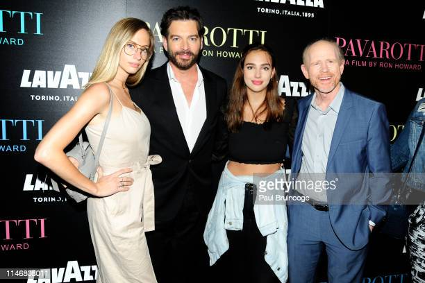 Georgia Connick Harry Connick Jr Charlotte Connick and Ron Howard attend Special Red Carpet Screening Of Ron Howard's Documentary Pavarotti at iPic...
