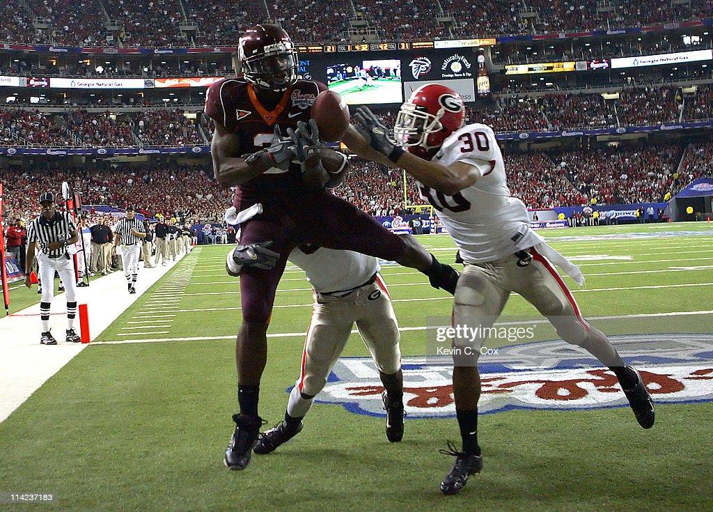 NCAA Football - Chick-fil-A Bowl - Georgia vs Virginia Tech - December 30, 2006 : Nachrichtenfoto