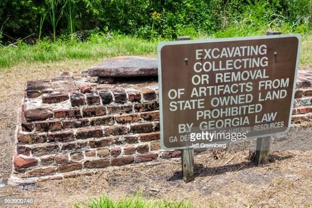 Georgia Darien Butler Island Platation Civil War historic site warning against artifact removal