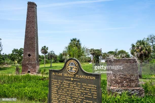 Georgia Darien Butler Island Platation Civil War historic site steamoperated rice mill and Historic Marker